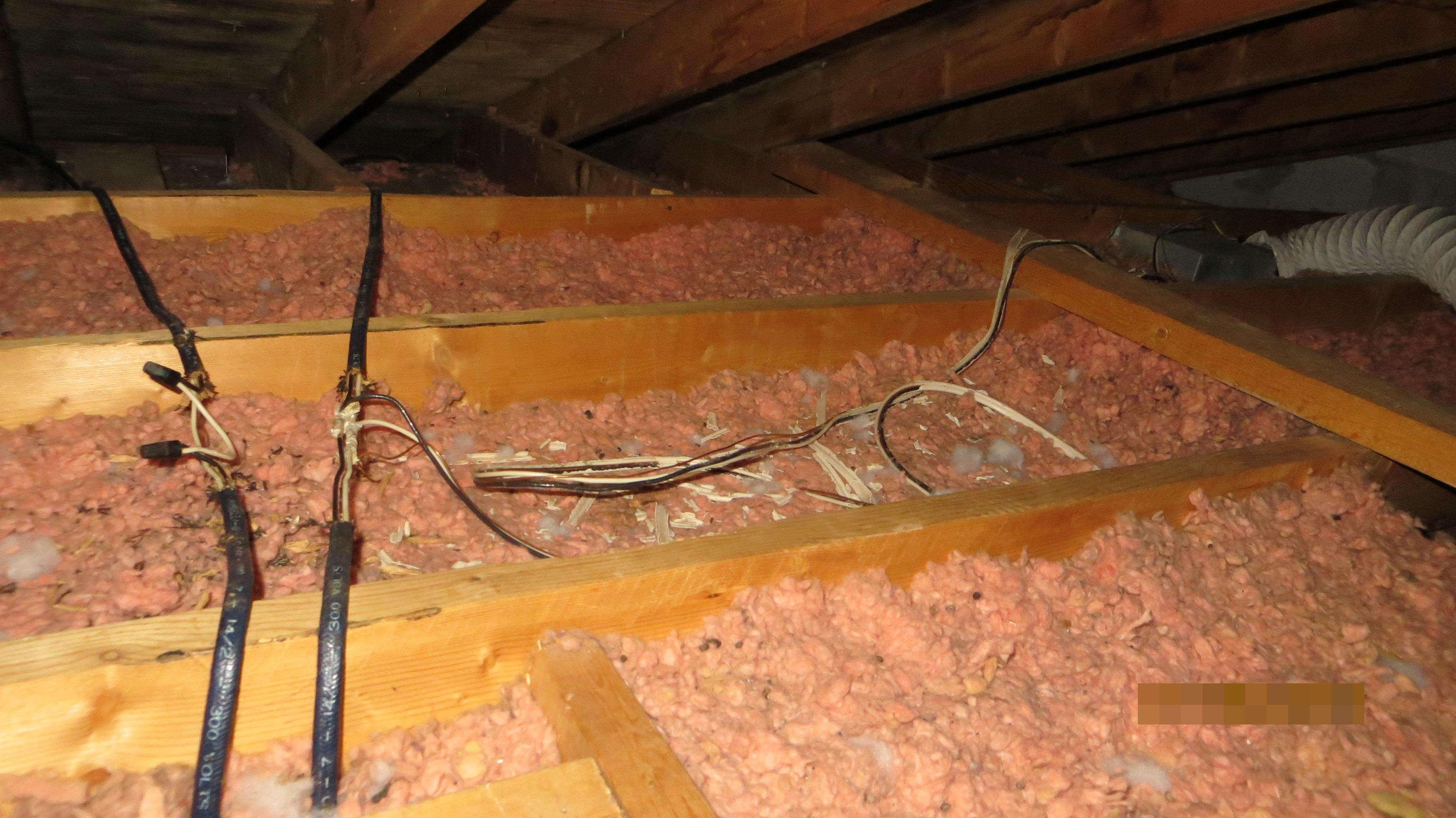 Loose wiring connections in Attic,fire hazard