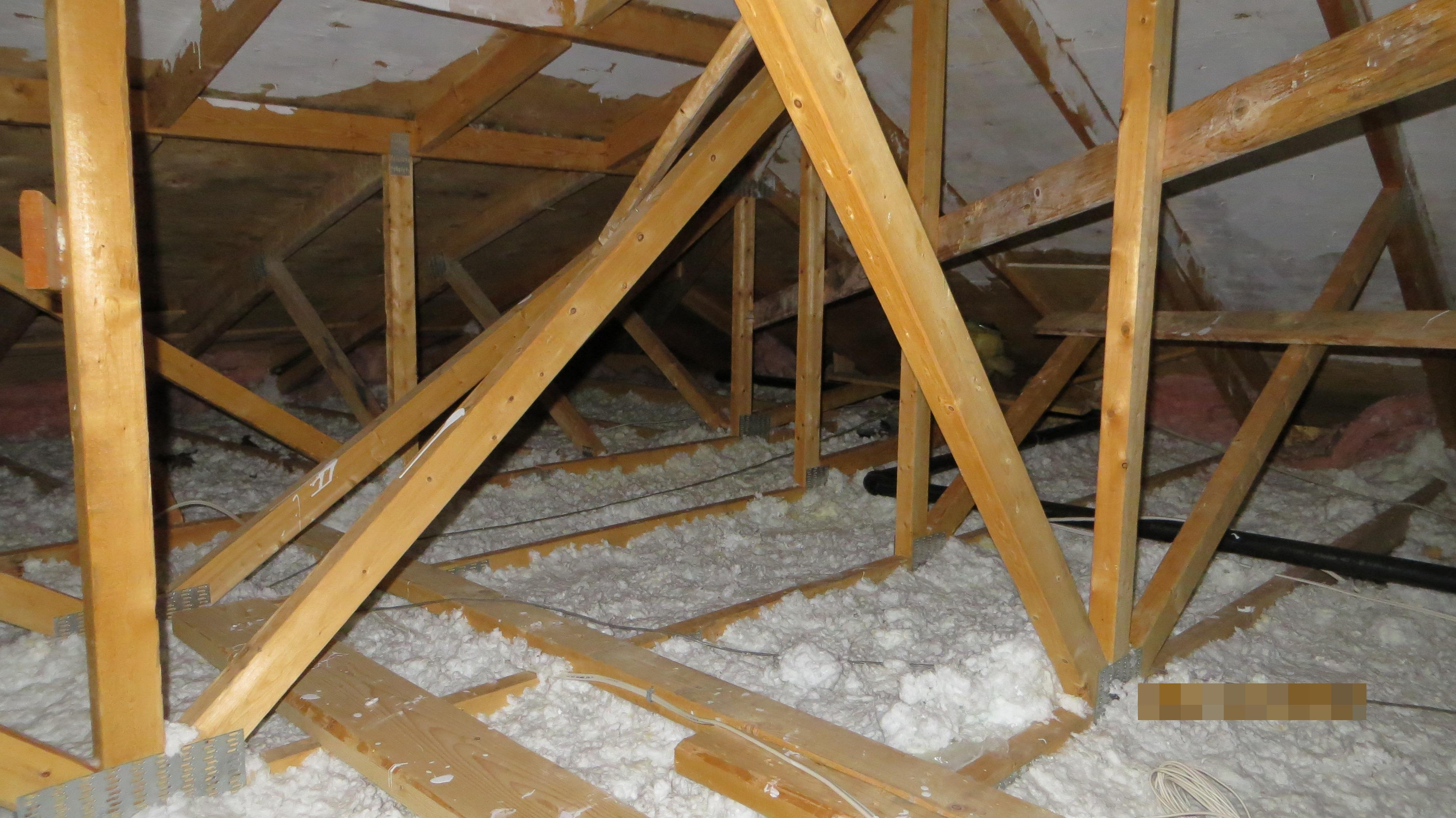 Very low graded insulation in Attic