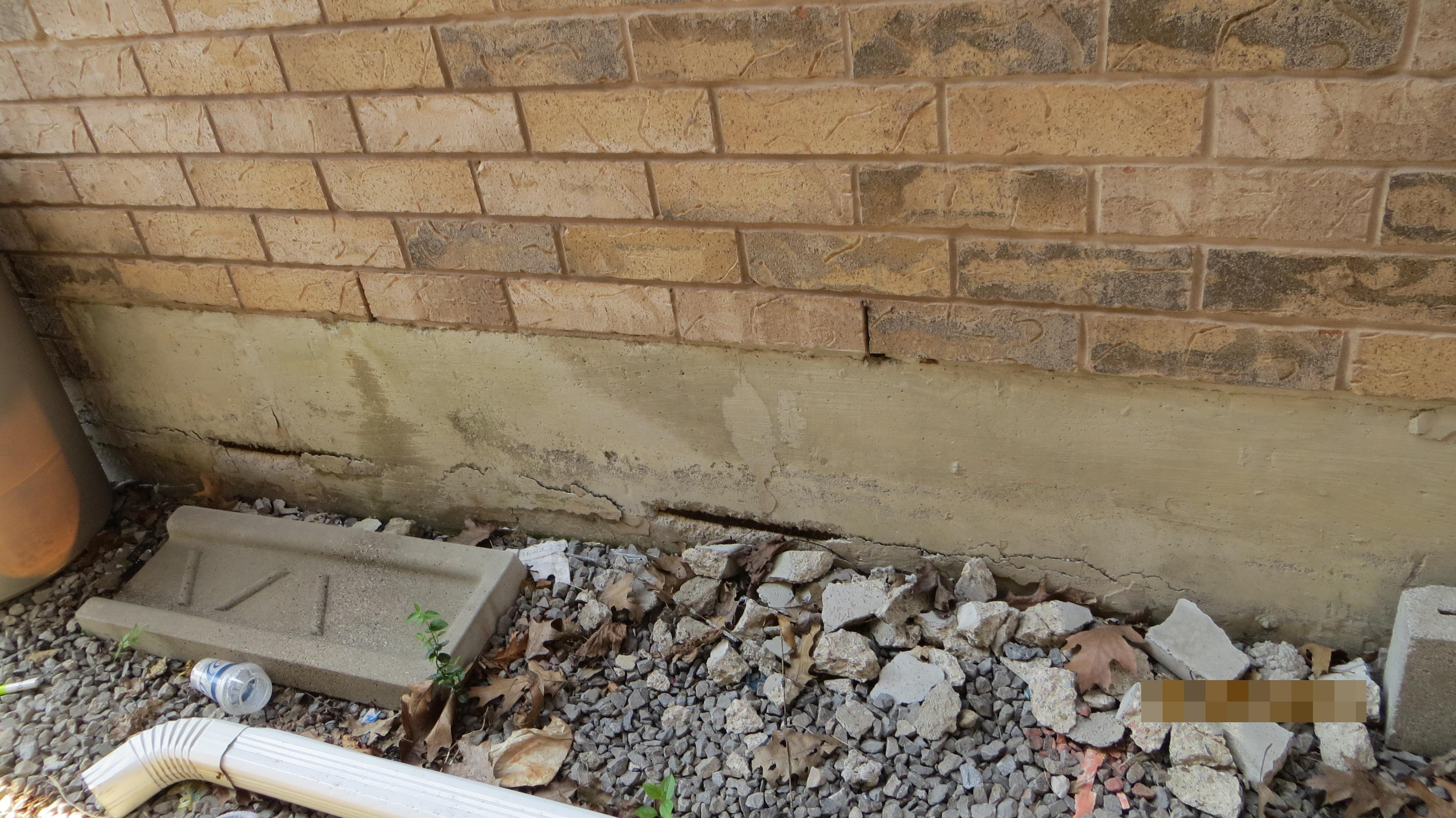 Steel rusting in foundation wall