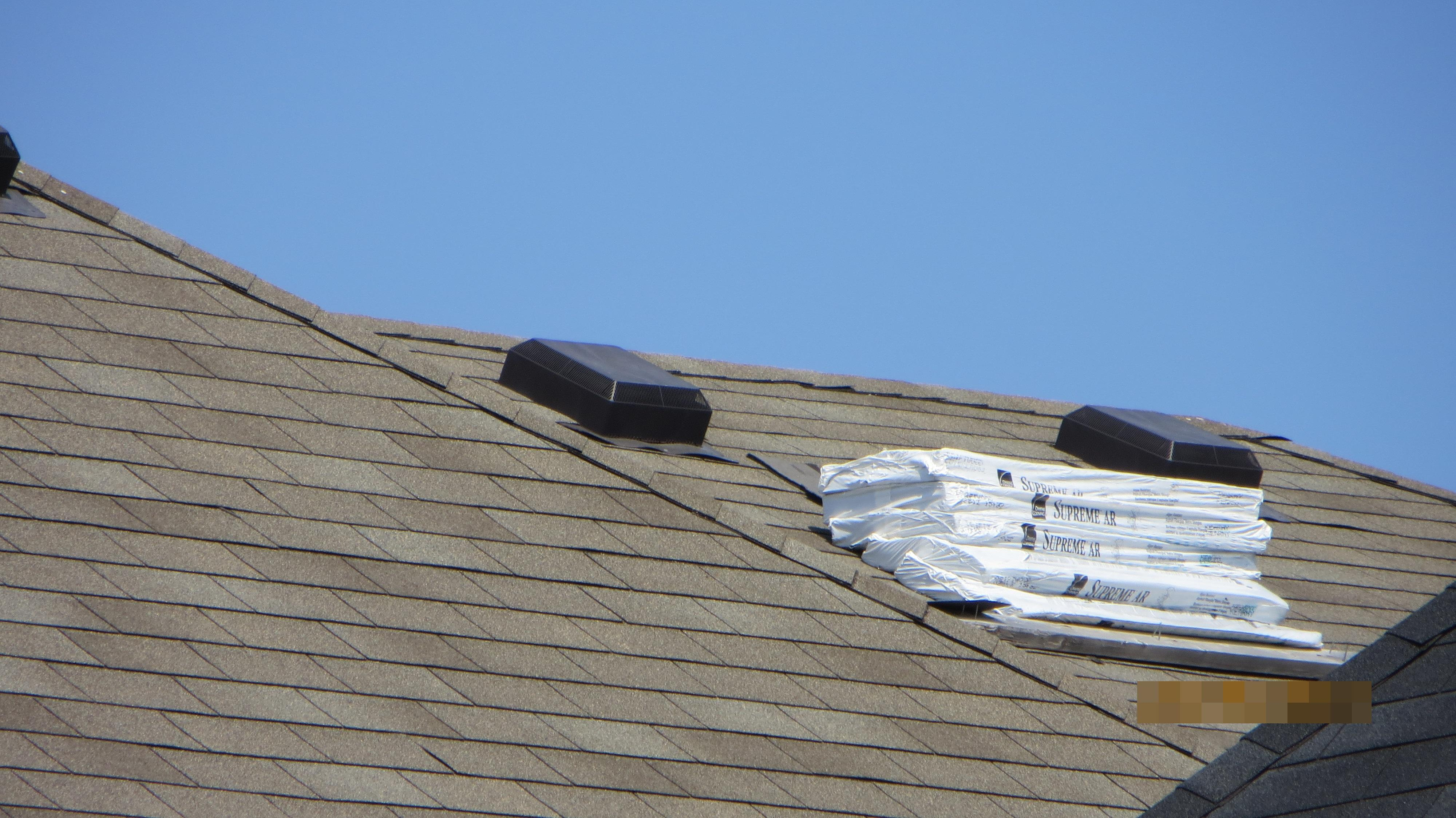 Builder forget the stuff, laying over roof since the last 5 years