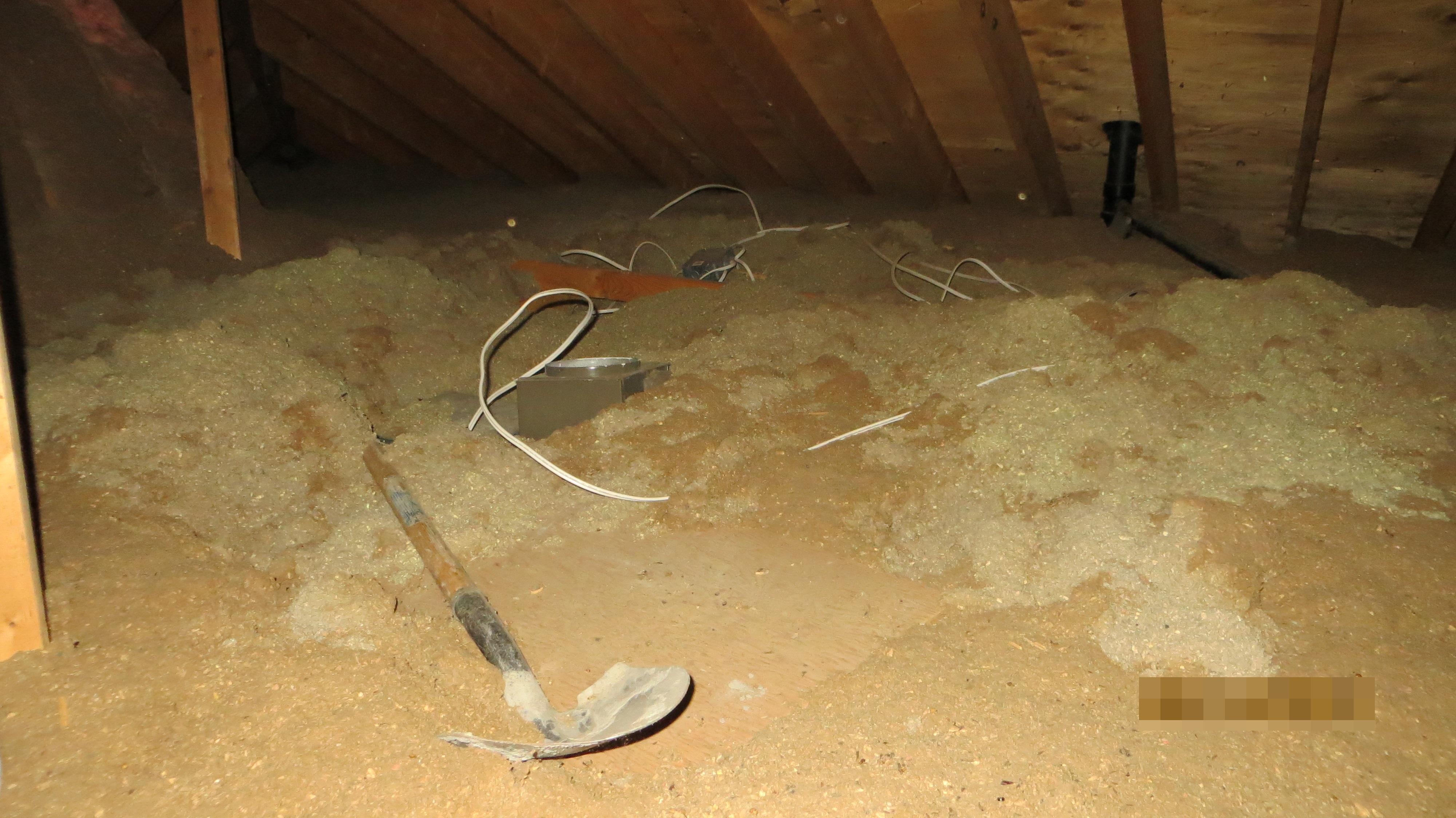 Work in progress in attic area