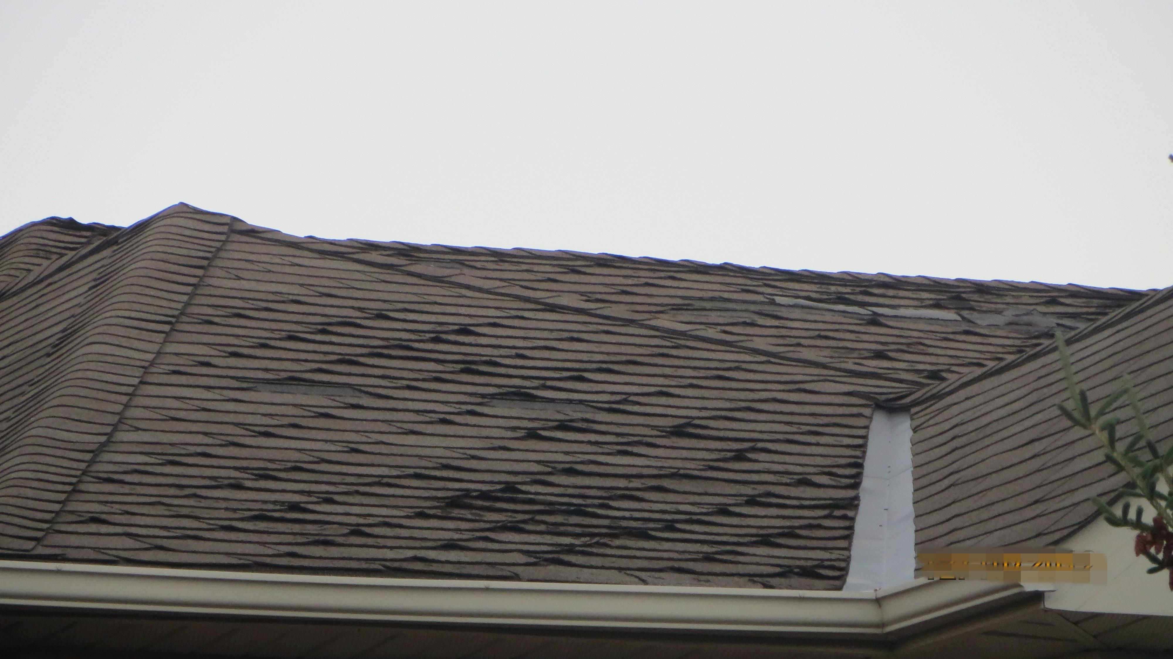 Missing and damaged roof shingles