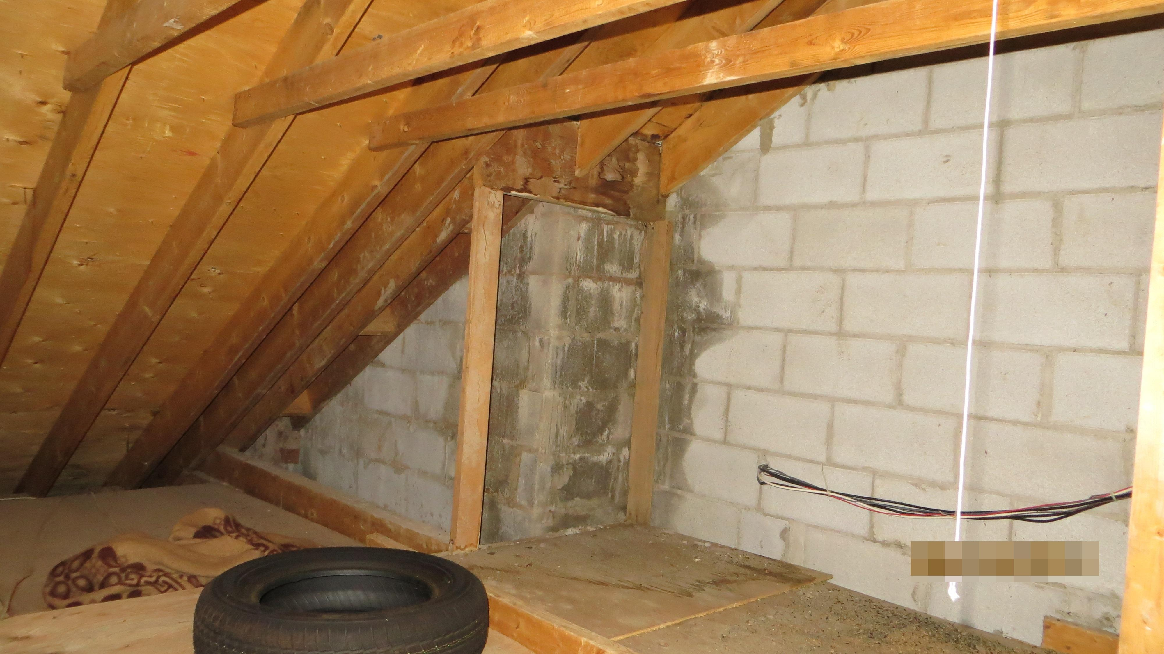 Leaks through chimney